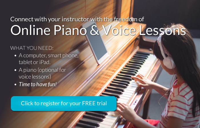 Online piano and voice lessons - free trial